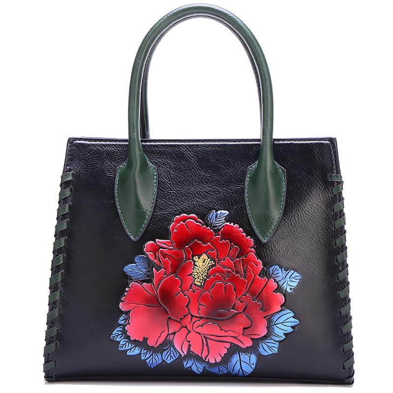 green Black De chocs Simple Fleur Sac 2018 Style Nouveau Femmes Unique Pare Red Coréenne Épaule Rétro Main Portable red Couleur À Occasionnel Version cAHRSqHw