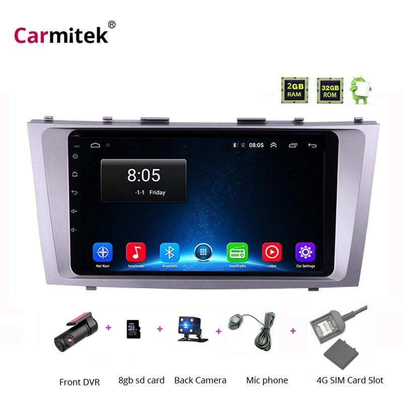 2G + 32G Android 8.1 4G Auto Radio Multimedia Video Player Navigation GPS WiFi 2 din Für Toyota camry 40 50 2006-2011 keine dvd