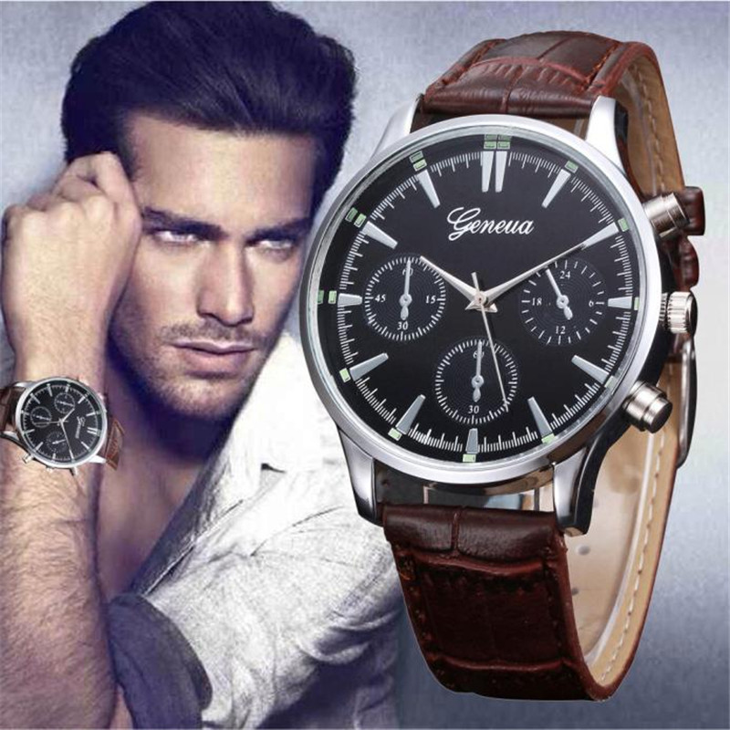 Hot sale Men reloj hombre Retro Design Leather Band Analog Alloy Quartz Wrist Watch Relogio Masculino Dropship hombre clock luxury brand men watches retro design leather band analog alloy quartz round wrist watch creative mens clock reloj hombre july31