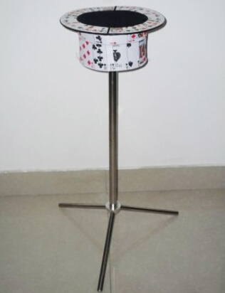 Collapsible Card Top Hat Stand - Side Table Magic Tricks Stage Close Up Illusions Gimmick Props Comedy Magicians Top Hat Table aluminum alloy magic folding table blue black bronze color poker table magician s best table stage magic illusions accessory