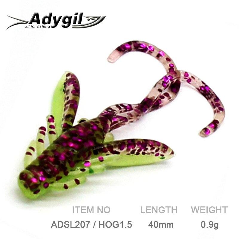 ADYGIL Fishing Lure Soft Lure Silicon Bait Soft Bait ADSL207/HOG1.5 10pcs 40mm 0.9g