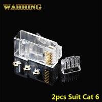 50 pz connettore rj45 connettore di rete rj45 plug cat6 schermato maschio utp 8p8c ethernet modulare 2 pz vestito terminali HY1589