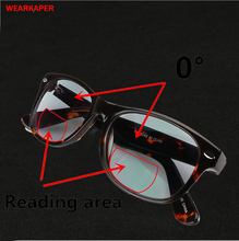 WEARKAPER 遷移太陽フォトクロミック二焦点老眼鏡男性アセテートフレーム老眼眼鏡男性 Gafas デ lectura 1 3.0