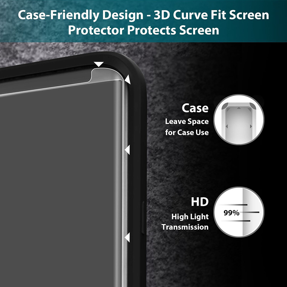 new concept f09e1 63a33 US $1.69 55% OFF|3D Curved Case Friendly Tempered Glass For Samsung Galaxy  S8 Protective Film For Samsung S8 Plus Screen Protector Not Full Cover-in  ...