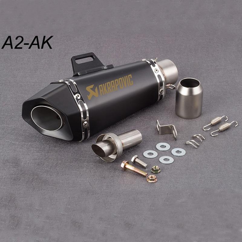 51mm moto tuyau d'échappement silencieux Akrapovic petit hexagone d'échappement avec DB tueur pour Z900 MT09 KTM390 CBR R6 FZ8 R25