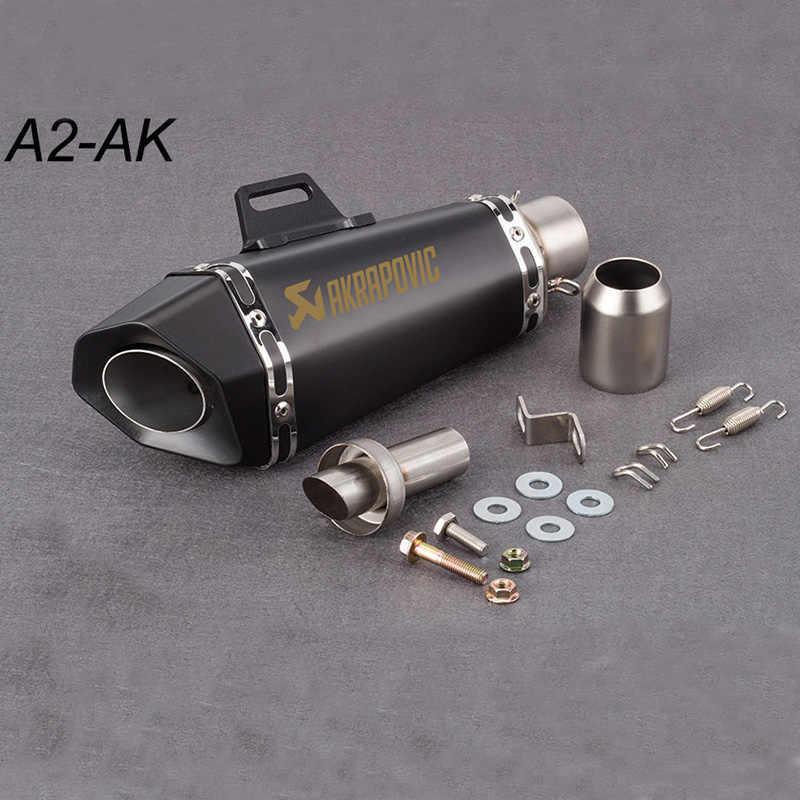 51 ミリメートルオートバイの排気管マフラー Akrapovic 小型六角排気 db のキラーのため Z900 MT09 KTM390 CBR R6 FZ8 r25