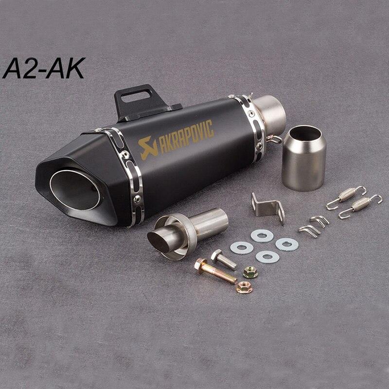 51mm tubo de escape da motocicleta silenciador akrapovic pequeno hexágono escape com db assassino para z900 mt09 ktm390 cbr r6 fz8 r25