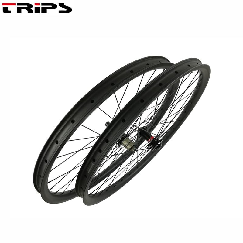 40mm asymmetric tubeless ALL Mountain 29er carbon boost wheels Novatec hub thru axle DH mtb bicycle