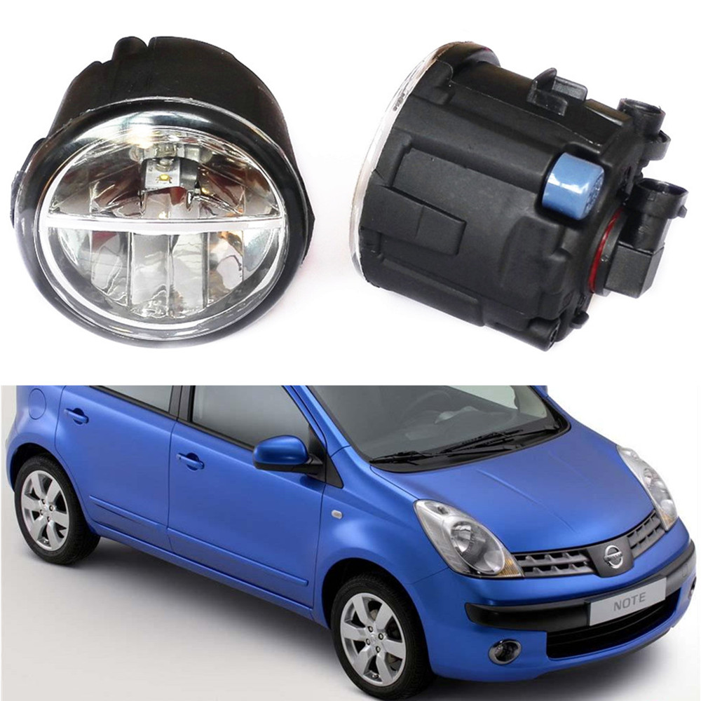 For NISSAN NOTE E11 MPV 2006-2015 Car styling LED fog Lights high brightness fog lamps  1set for lexus rx gyl1 ggl15 agl10 450h awd 350 awd 2008 2013 car styling led fog lights high brightness fog lamps 1set