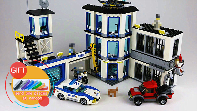 02020 965Pcs City Series The New Police Station Set Children Educational Building Blocks compatible with 60141 toys lepin 02020 lepin new city series the new police station set children educational model building blocks bricks diy toys kid gift 60141