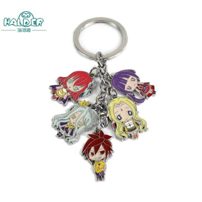Halder Anime No Game No Life Key Chains Keyring Trinkets Pendants Accessories