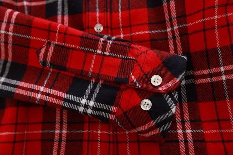 2017 hot sprzedaż jesień zima panie kobieta casual cotton lapel bluzka bluzki z długim rękawem kratę koszula kobiet szczupła odzieży wierzchniej clothing 12
