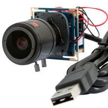Free shipping ELP 2megapixel Mjpeg Hd Industrial Camera USB for Industrial ,2.8-12mm varifocal Board Lens USB Webcams Camera