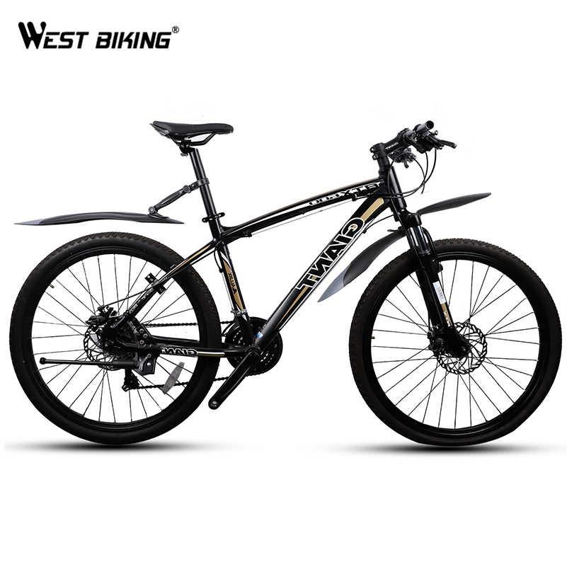 West biking 1 пара MTB велосипед крыло 24 26 27,5 дюймов Велосипедное защитное крыло переднее заднее крыло Колеса крылья брызговик горный велосипед крыло