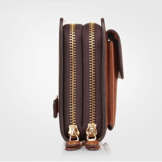 Новый деловой кошелек, повседневный клатч с монетами, роскошный портфель с двойной молнией, вместительный многофункциональный кошелек