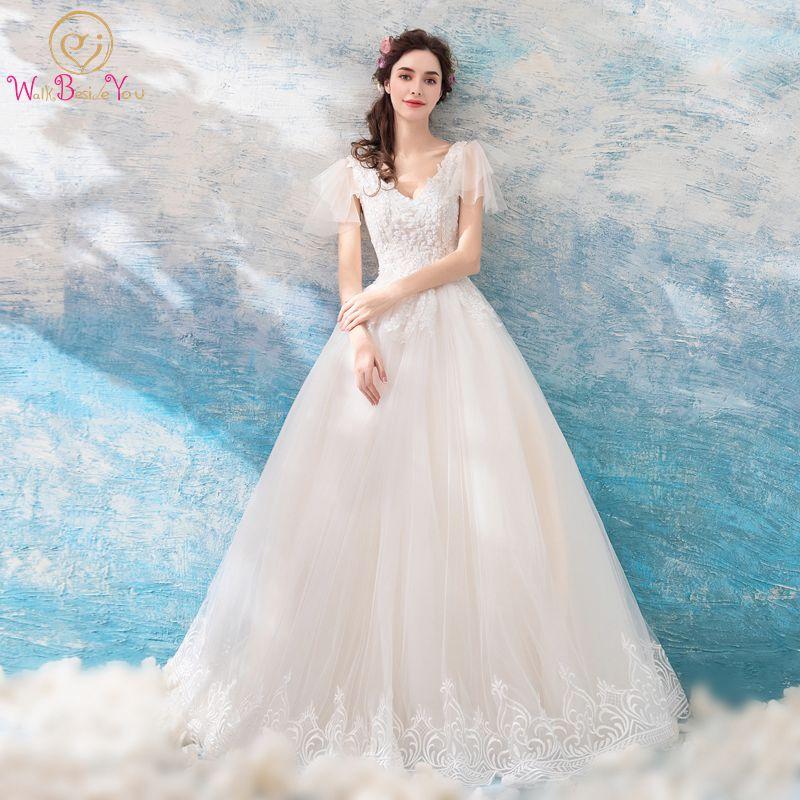 Online Shop Wedding Dresses 2018 New vestido longo Champagne Pink ...