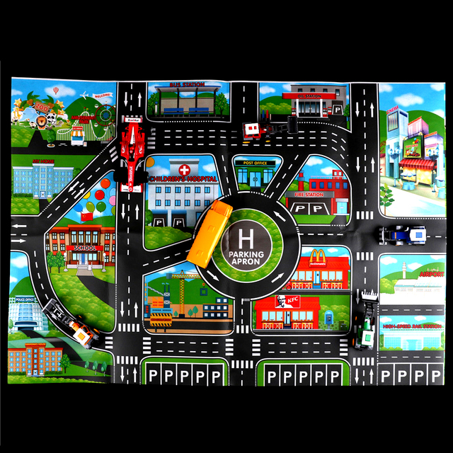Escalada Diy Juguetes Ingléscoche Carretera Cm Ciudad Estacionamiento Esteras Versión Coche Unidades Modelo Mapas 57 1 No Niños 83 9WDHYE2I