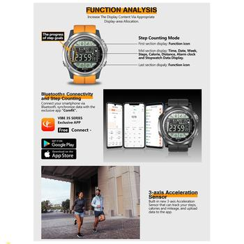 Zeblaze VIBE 3S Outdoor Smart Watch Real-time Weather Steps Calorie Distance Tracking Water Resistant Goal Setting Alarm 3