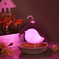 Free shipping LED Nightlight Lamp Touch Sensor Cute Birds Light Home Decor Bedroom Creative Rechargeable Touch Dimmer Cage