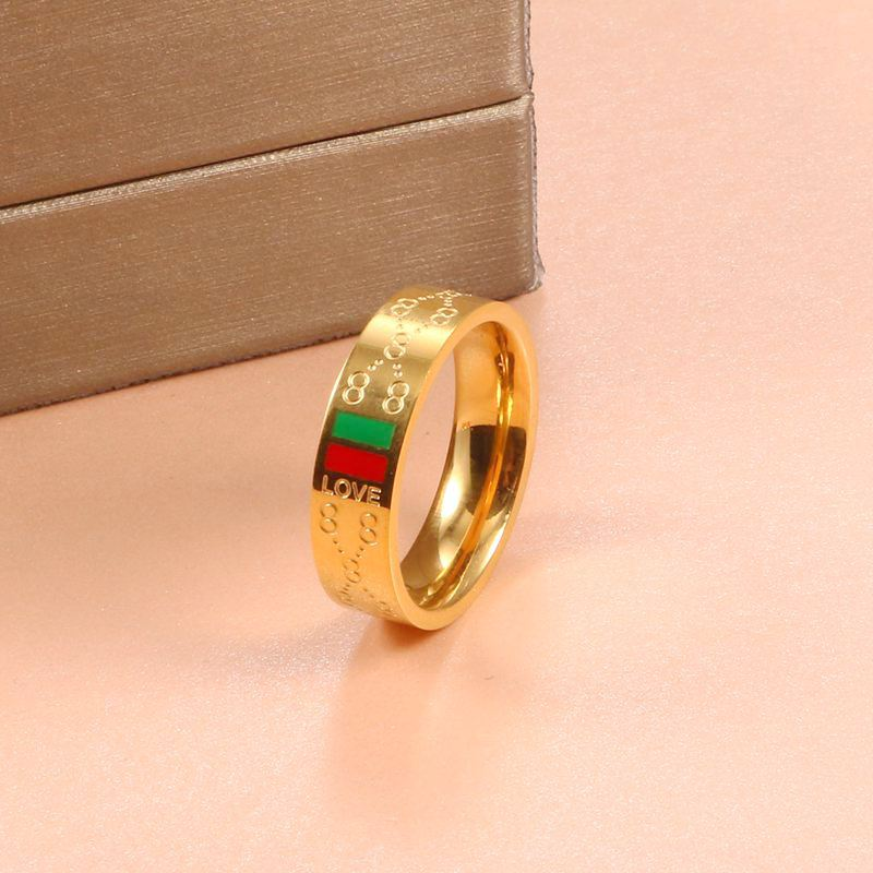 Woman Stainess Steel Rings Man Wedding Party Classic Gold Plating Charming 8 pattern Finger Ring Luxury Brand Wedding Jewelry|Rings| - AliExpress