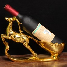 Deer Wine Rack Best Bottle Holder Creative Retro Resin Wine Stand Accessories Home Bar Decor Wine Holder Home Decoration fashion quality rose household wine rack baijiu home decoration iron wine holder