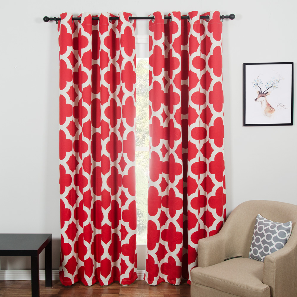 Quatrefoil Geometric Modern Curtains for Living Room the Bedroom Window Shades Blinds Black out Curtain Drapes Window Treatments