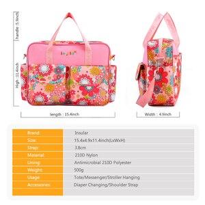 Image 3 - Bolsa de pañales para mamá de gran capacidad, bolsas de pañales de maternidad para mamá multifuncional, bolsa de enfermería para cochecito de bebé