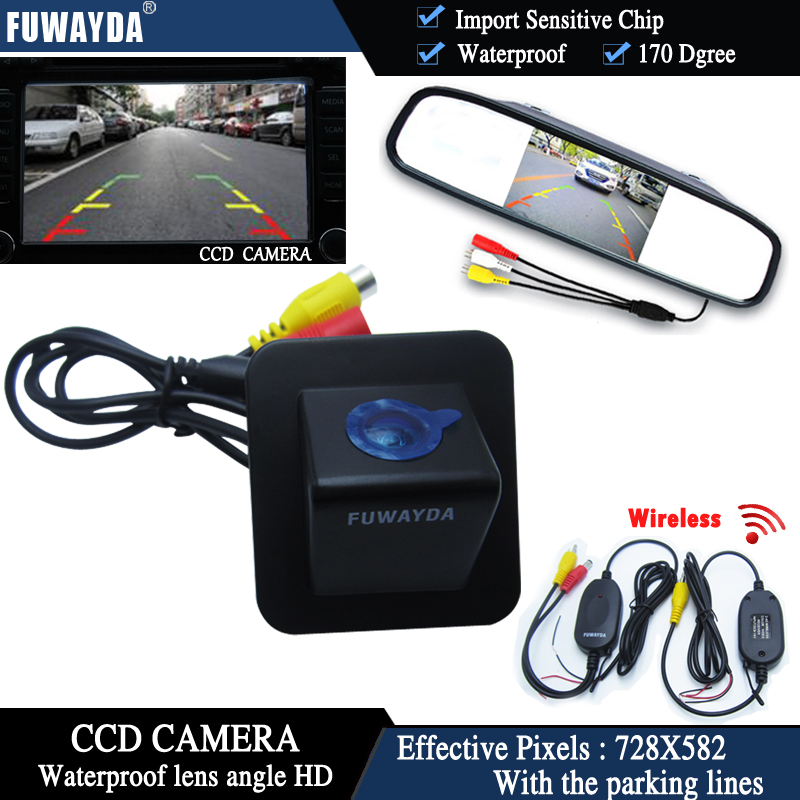 FUWAYDA 4.3 Inch Long Mirror Monitor With Car Rear View CCD Camera For Hyundai Elantra Avante 2012 WATERPROOF HD ветровики korea hyundai elantra 2013 avante md 2013