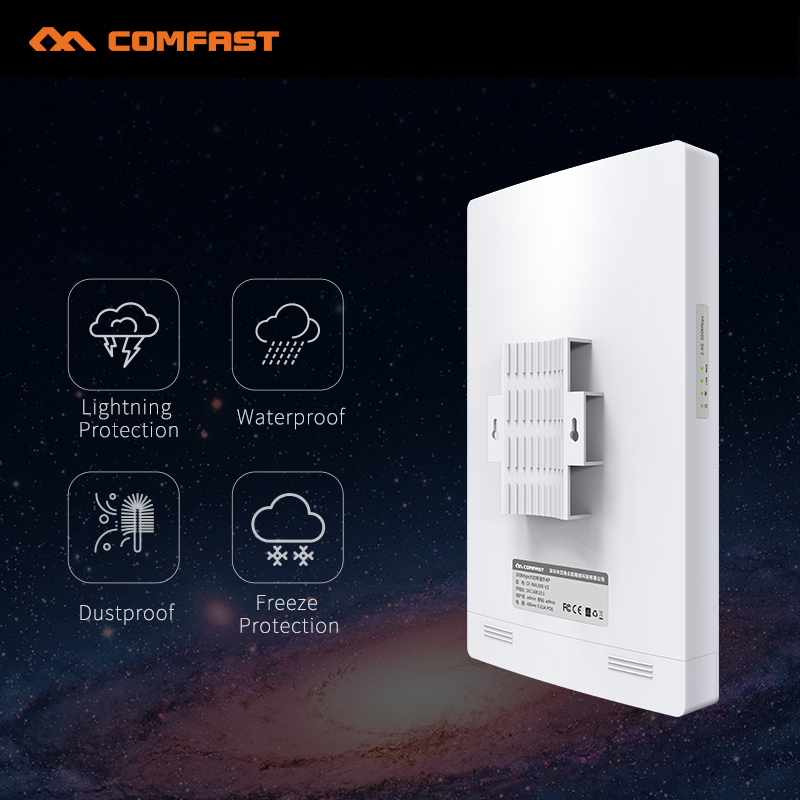 300Mbps Outdoor wireless AP router 1-3KM 500mW high power WIFI router signal booster repeater CPE bridge with PA 13dBi antenna comfast outdoor wireless ap wifi router 300mbps 1 3km 500mw high power wifi signal booster amplifier ap cpe with 2 16dbi antenna