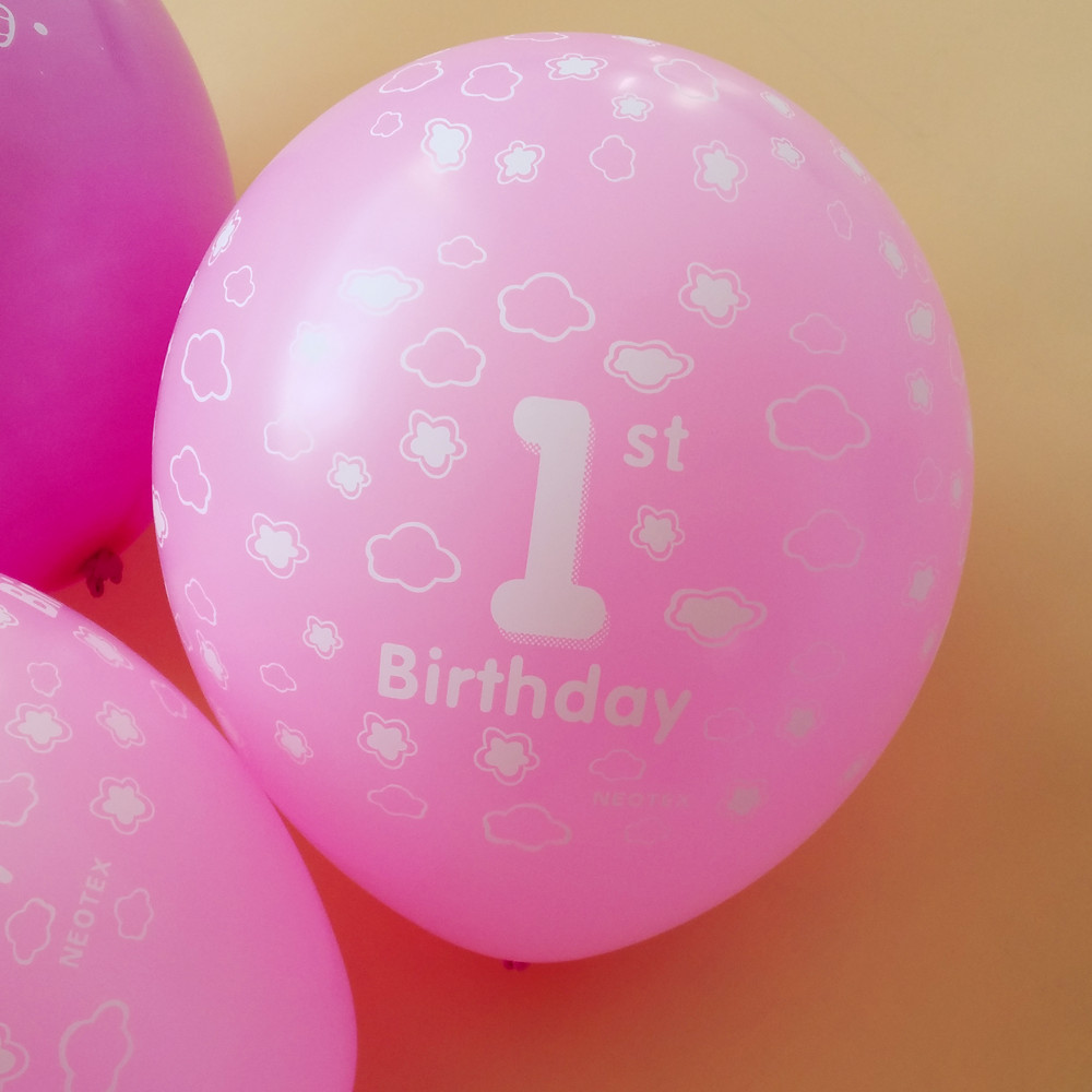 50pcs/lot 12 inch 2.8g Birthday balloon One year old birthday party supplies Girl balloon lovely  pink  globos latex balloon