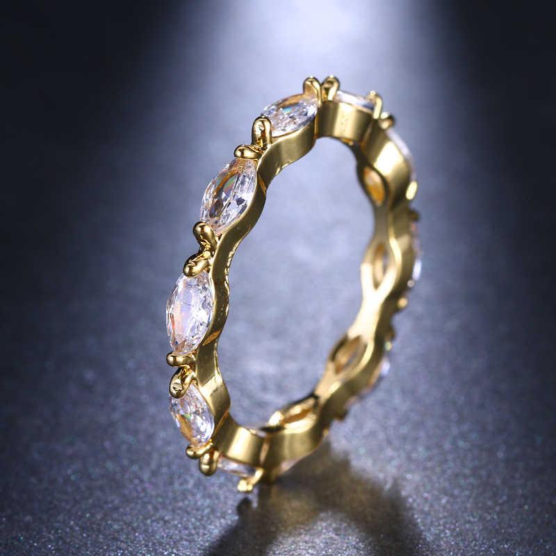 Emmaya, новое циркониевое кольцо, Модные женские ювелирные изделия для женщин и мужчин, золотые вечерние кольца, бесплатная доставка