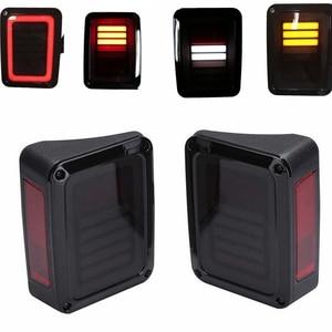 Image 5 - עבור 07 16 ג יפ רנגלר LED זנב אורות אחורי בלם הפוך מנורות עבור סהרה, חופש הרוביקון 2007   2016 LED בלם זנב אורות