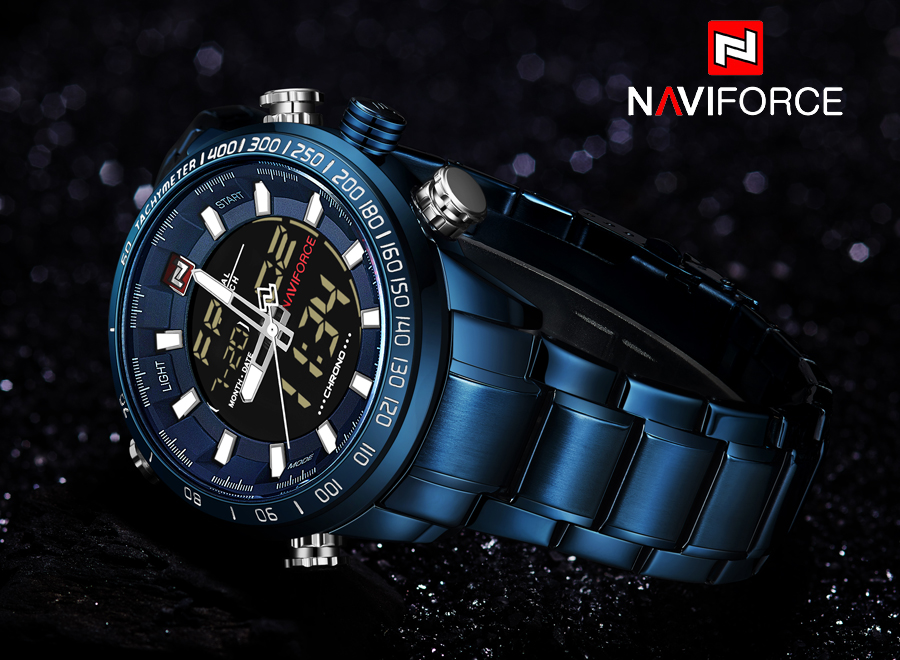 NAVIFORCE Mens Quartz Analog Watch Luxury Fashion LED Sport Wristwatch Waterproof Stainless Male Watches Clock Relogio Masculino 13