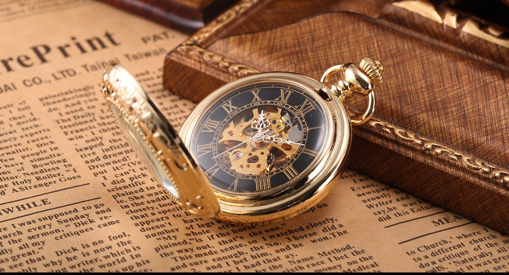 Steampunk Mechanical Pocket Watch Men Retro Pendant Watch Chain Vintage Necklace Mechanical Hand Wind Clock Pocket Watch Gifts 9