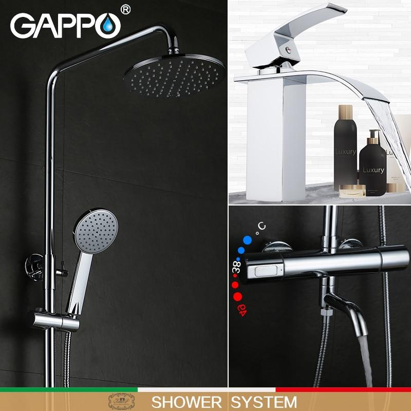 GAPPO ванной кран термостат смесителя Водопад настенный термостатический смешивания клапан бассейна смеситель для душа системы