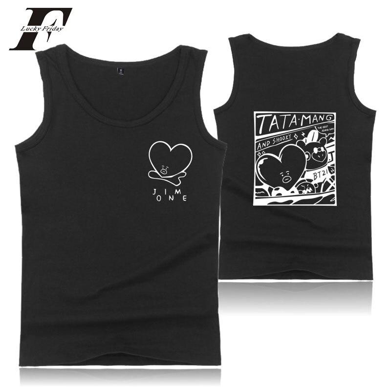 2018 Bts Kpop Bts Shirts Sommer Printed Tank Top Frauen Und Männer Bangtan Jungen Ärmelloses Shirt Und Plus Größe Bodybuilding Westen