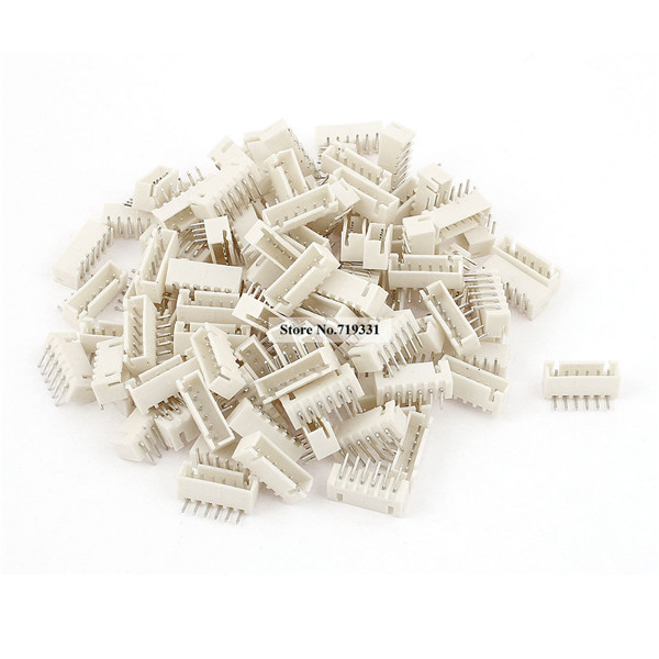 100pcs 2.54mm XH 2.5 Pitch Right Angle 6 Pins 6 WAY XH Header Socket Male JST Connector
