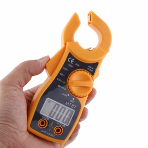 New MT87 Professional LCD Digital Clamp Meter Multimeters Voltmeter Ammeter Ohmmeter Portable Multi-function tester Durable(China)