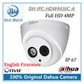 Mais recente versão em inglês 4mp câmera ip dahua dh-ipc-hdw4436c-a ip67 à prova d' água hd1080p ir 50 m onvif suporte h.265 microfone embutido