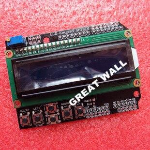 1602 LCD Keypad Shield for Arduino Duemilanove UNO MEGA2560 MEGA1280 Free Shipping Dropshipping