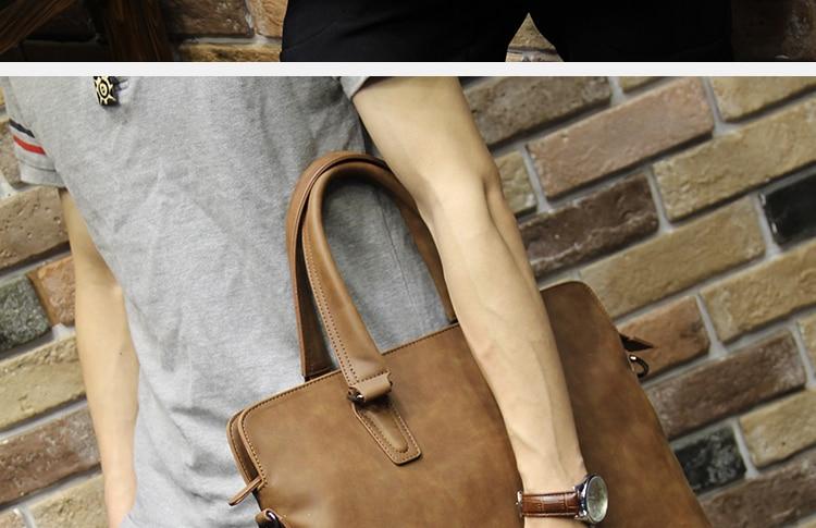 HTB16rOXnHsTMeJjy1zbq6AhlVXa9 Brand Crazy horse pu leather men bags vintage business leather briefcase men's Briefcase men travel bags tote laptop bag man bag