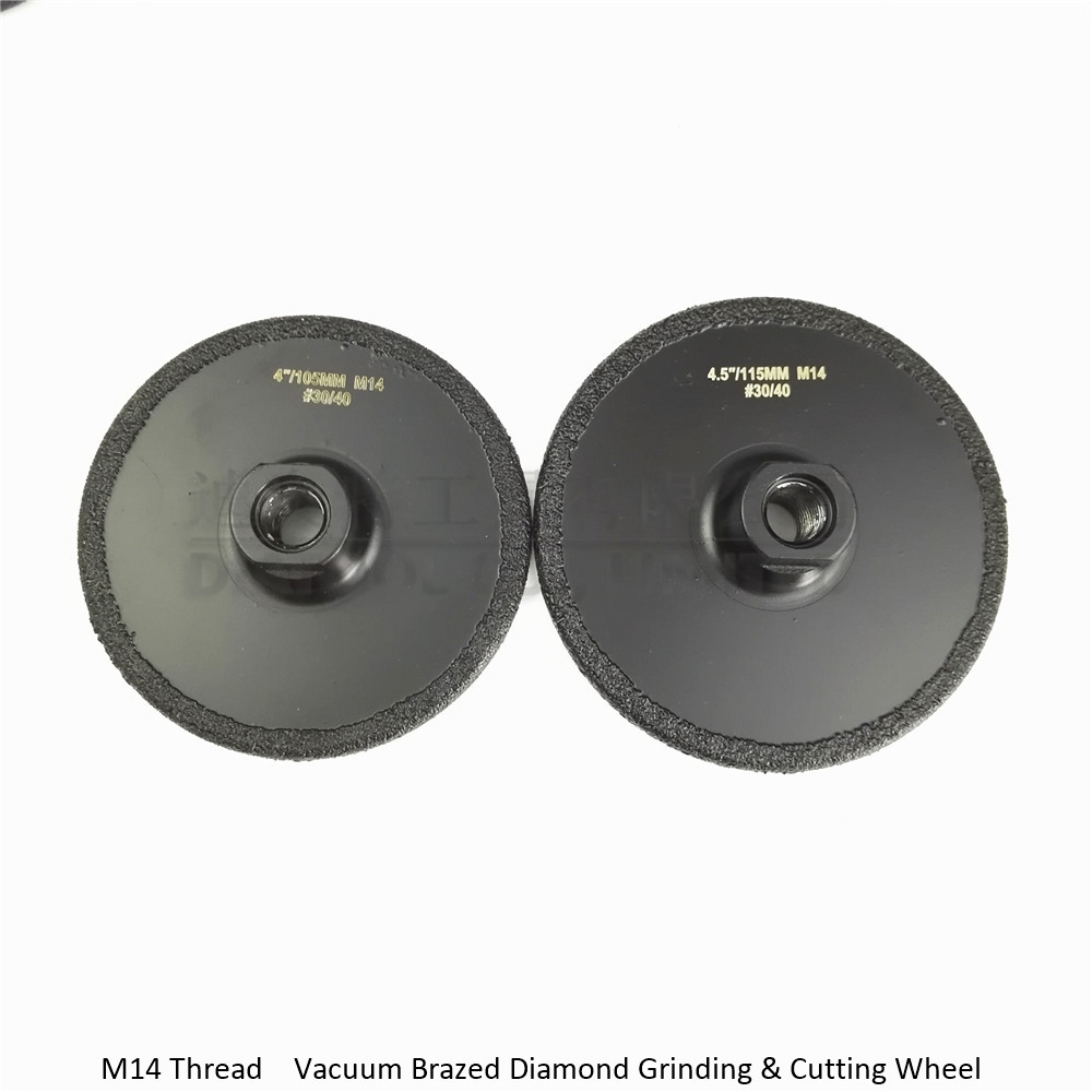 2pcs/pk Vacuum Brazed diamond flat grinding wheel (4