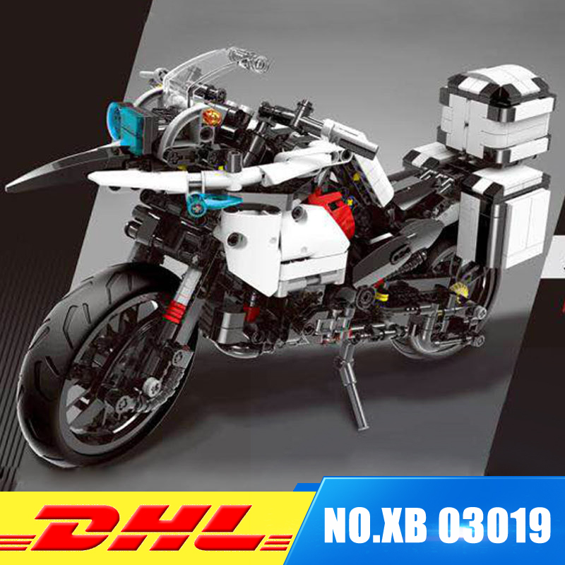 Presale XINGBAO 03019 The Patrol Motorcycle Set MOC Blocks Bricks Educational Funny Building Toys as New Year Gifts For Kids xingbao 12004 554pcs city girl series the corner of the school set building blocks bricks educational funny toys gifts for kids