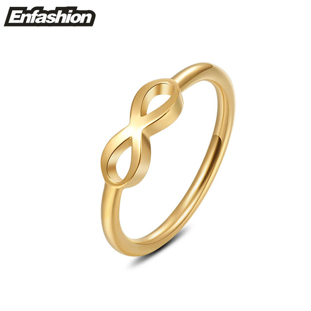Fashion infinity ring women midi ring rose gold color rings