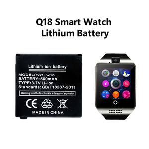 For Q18 Smart Watch Battery Smartwatch Clock Spare Rechargeable Li-ion Polymer Battery 3.7V 500 MAH Battery Wrist Watch Battery