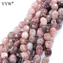Strawberry Quartz Beads Nuggets natural Hole:Approx 0.5-1mm Sold Per Approx 16 Inch Strand(China)
