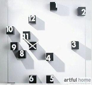 Bricolage drôle horloge grand grand numérique horloges murales autocollants décoration de la maison nouveauté articles uniquecadeau en gros