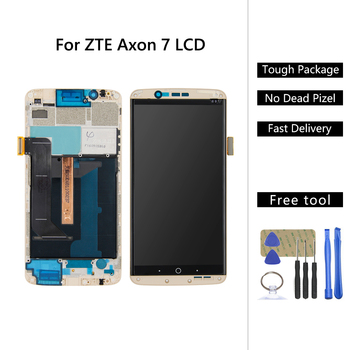 For ZTE Axon 7 A2017 A2017U A2017G LCD Display Touch Screen Digitizer Assembly + Frame Free Tools For ZTE Axon 7 LCD Screen