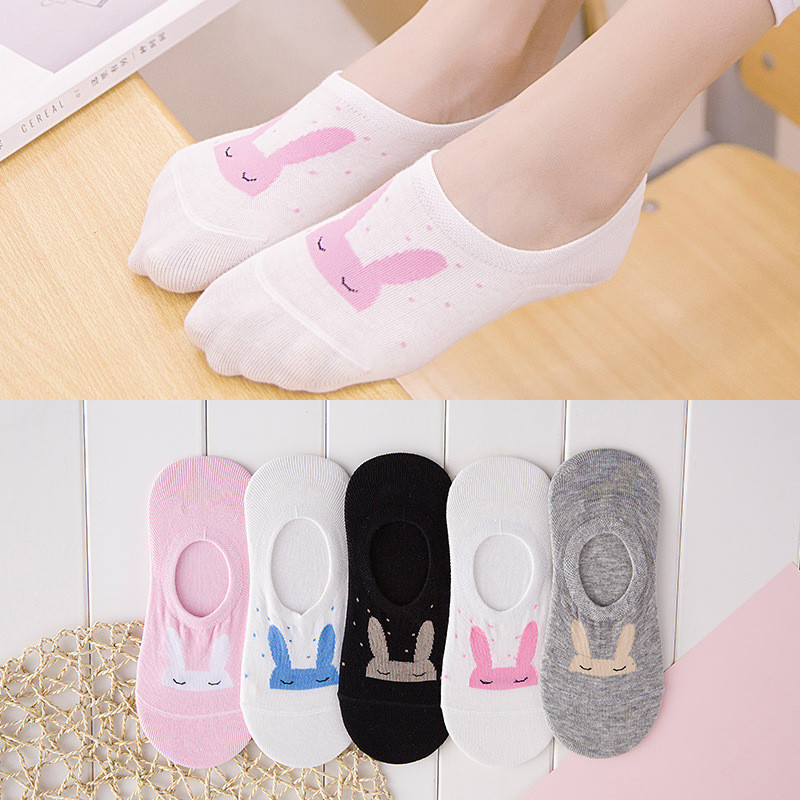 performance sportswear dirt cheap online retailer Cute Rabbit Women Socks Anti Slip Ankle Socks Cotton Bamboo Fiber ...