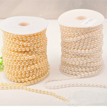 4mm Pearl Beads Half Round Fishing Line Garland Chain Wedding Decoration DIY Flower Table Party Home Accessories